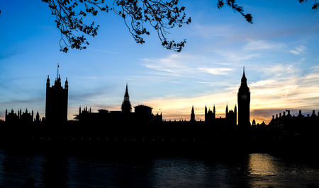 regent: house of parliament and Big Ben clock tower in the evening