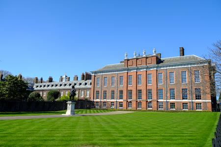 Kensington Palace with blue sky