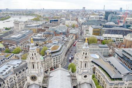 st pauls: London skyline from the top of St. Paul cathedral, London, UK