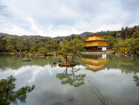 Kinkakuji temple in fall, Kyoto, Japan