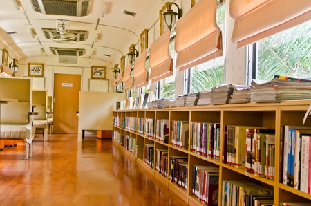 library books: Train liabrary in Hua Hin