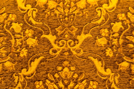 silk thread: Texture of fabic gold background