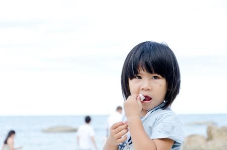Young girl on the beach, Hua Hin Thailand