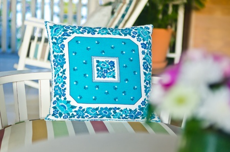 patter: Blue pillow show texture, patter