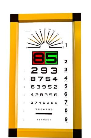 Eye exam chart,health concept photo