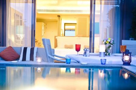 Romantic room with jaccuzi outdoor Stock Photo - 12017940