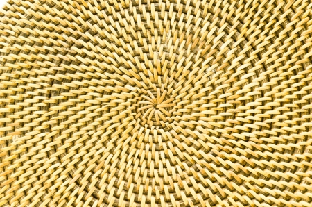 Circle background from rattan fibers photo