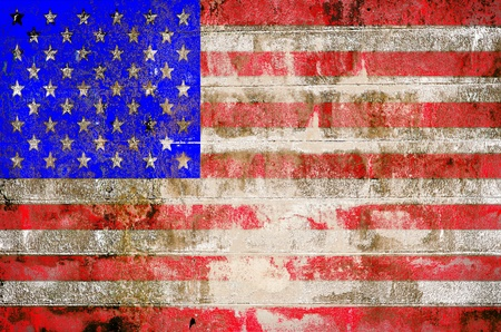 Grunge USA flag theme background and texture photo