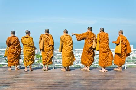 Monks on Hua Hins View Point, Hin Lek Fai, Thailand