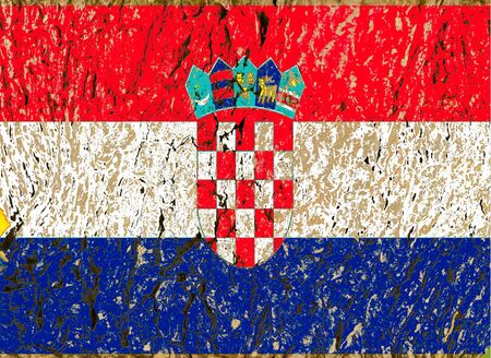 croatian flag  grunge wooden texture  Stock Photo - 13597060