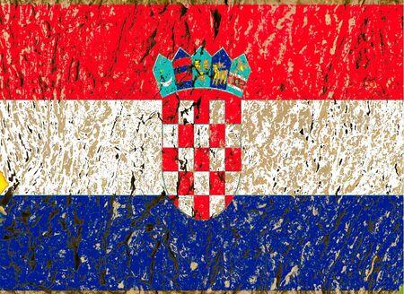 croatian flag  grunge wooden texture Stock Photo - 13597060