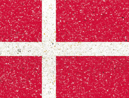 Denmark flag on sand stone background photo