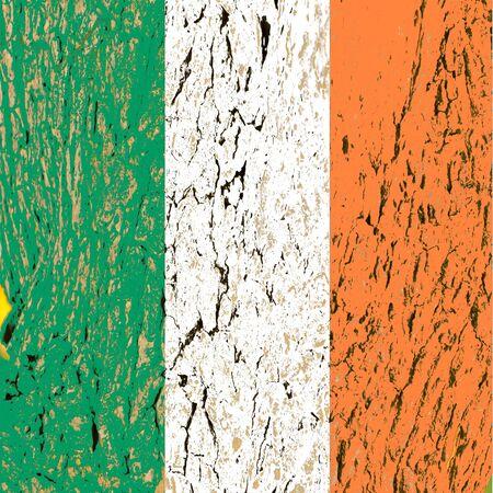 wood flag of ireland  photo