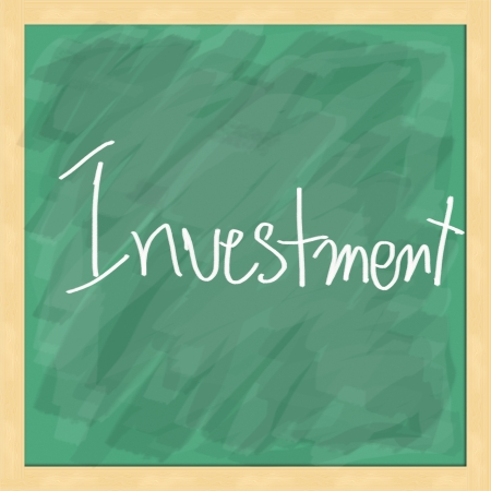 Investment write on blackboard photo