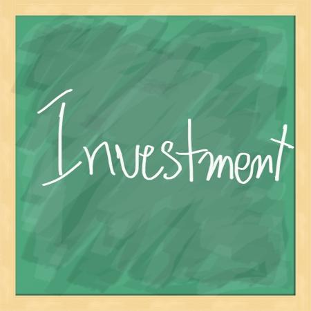 Investment write on blackboard photo