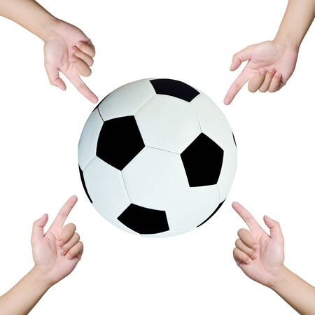 shootout: Hands pointing soccer