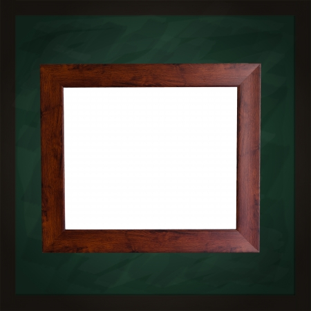 Square Green Chalkboard With White Frame Stock Photo, Picture And ...