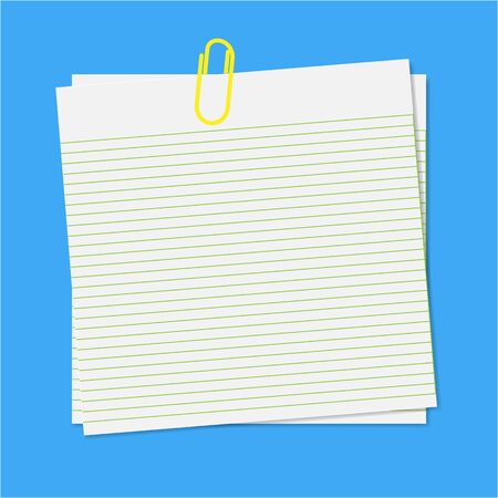 Paper note with clip Stock Vector - 13897486