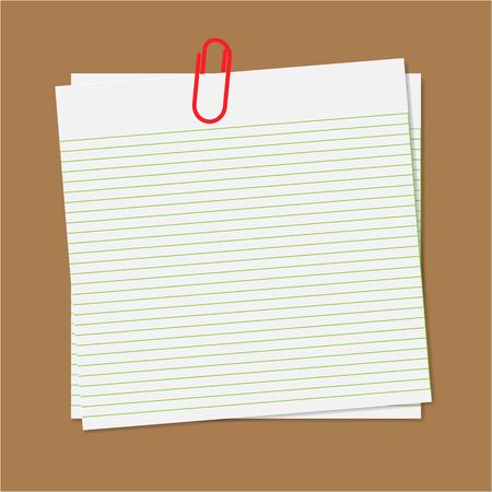 Paper note with clip Stock Vector - 13897491