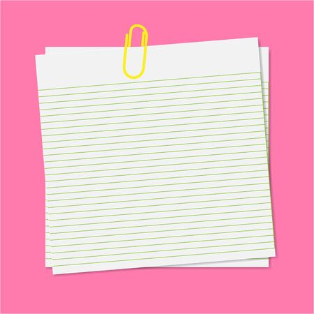Paper note with clip Stock Vector - 13897489