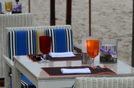 diner aux chandelles: Romantique d�ner aux chandelles sur la plage