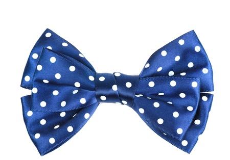 bow hair: Arco azul y blanco del pelo c�rculo cinta patr�n aislado sobre fondo blanco