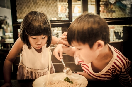 children eating together Stock Photo - 15719827