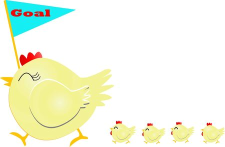 chiken: Mother chicken  Illustration