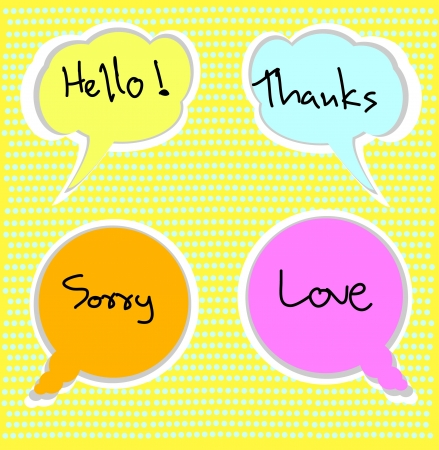message note with words Stock Vector - 16170291