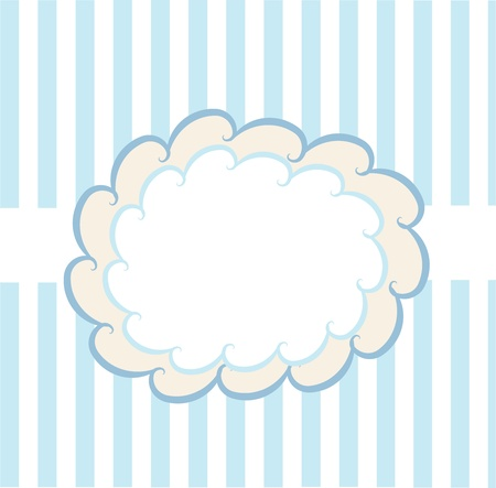 design template on blue and white background Vector