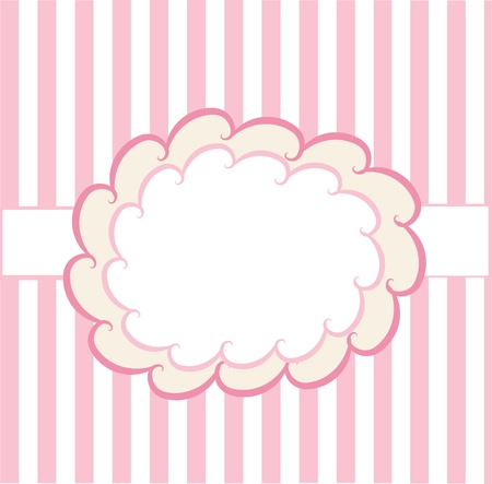 design template on pink and white background  Vector