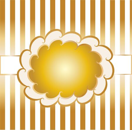design template on gold background  Vector