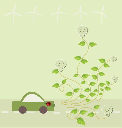 Eco car concept Stock Vector - 16758891