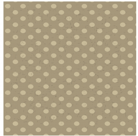 brown background: seamless polka dot pattern with retro texture  Illustration