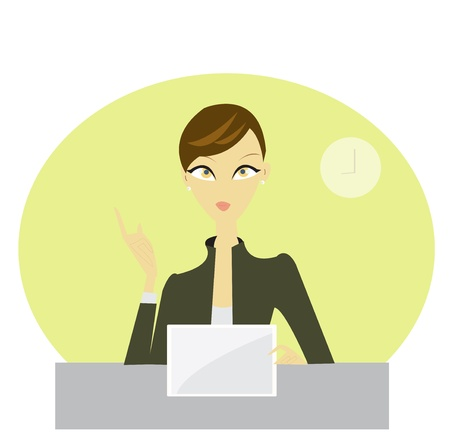 Business woman present graph on meeting Stock Vector - 17209822
