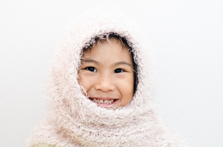 Asian girl with scarf photo
