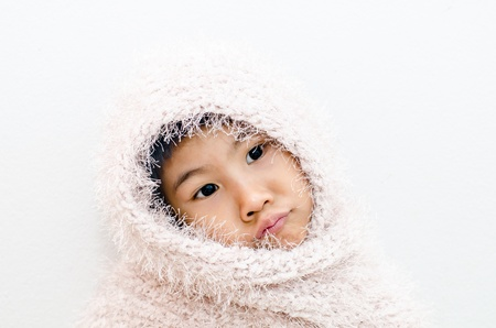 Asian girl with scarf Stock Photo - 17499340