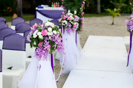 Decoration of wedding flowers photo