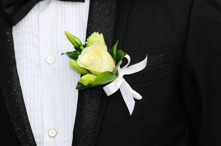 cufflink: Close-up of elegance man cufflink