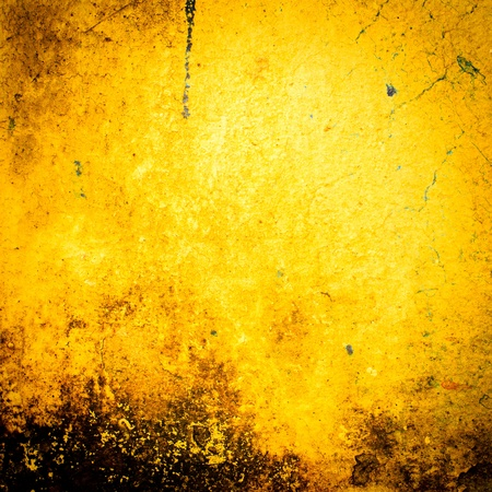Abstract Yellow old and dirty wall background Stock Photo - 18690868
