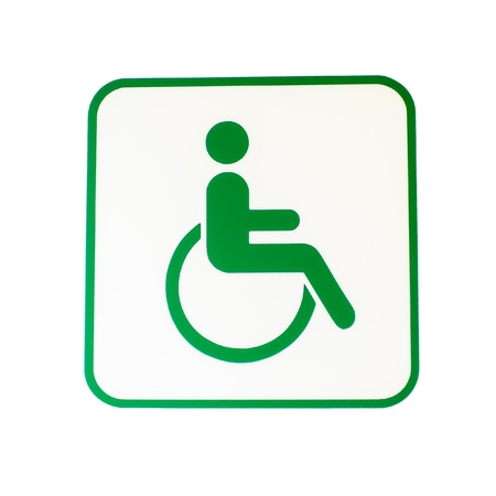 Wheel chair: disabled icon sign board