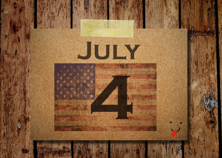 4th of July Grunge Texture Paper note photo