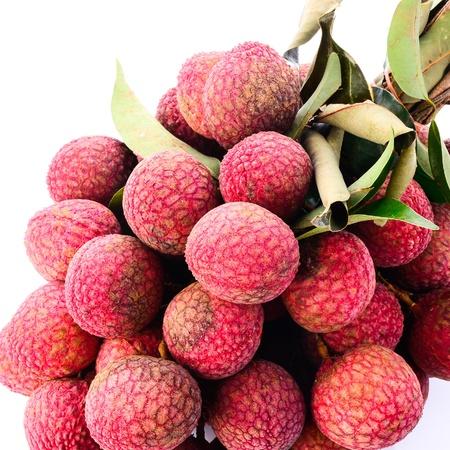 lichi: Fresh of litchi fruit isolated on white background