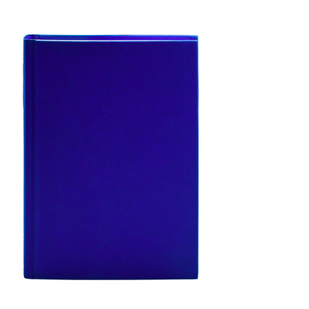 Blank blue hardcover book isolated on white background with copy space  photo