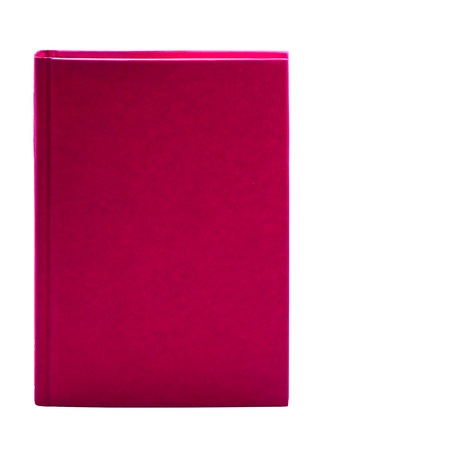 Blank pink hardcover book isolated on white background with copy space  photo
