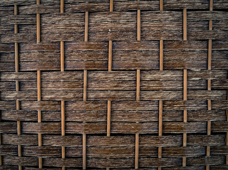 Texture background from rattan fibers photo