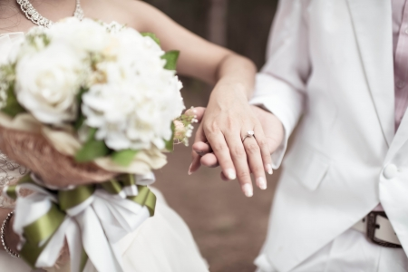 wedding theme, holding hands with love Banco de Imagens
