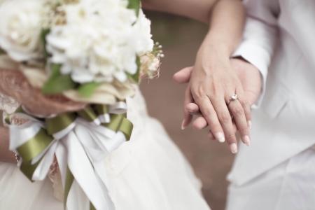 Thema Hochzeit, Hand in Hand mit Liebe Standard-Bild - 23563040
