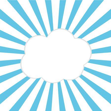 Cloud bubble, vector illustration Vector