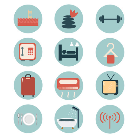 Hotel facilities icons  Vector